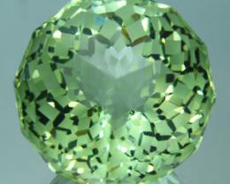 ~CUSTOM CUT~ 14.82 Cts Natural Prasiolite / Amethyst Fancy Cushion Brazil