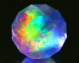5.70Ct ContraLuz Precision Cut Ethiopian Very Rare Species Opal B0301