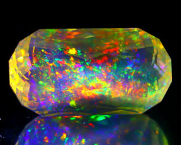 12.73Ct ContraLuz Precision Cut Ethiopian Very Rare Species Opal B0302