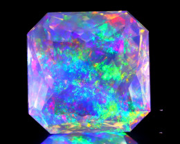 5.72Ct ContraLuz Precision Cut Ethiopian Very Rare Species Opal B0304
