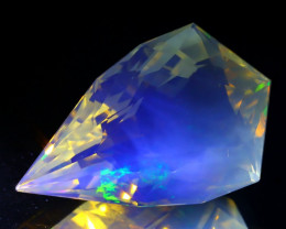 11.69Ct ContraLuz Precision Cut Ethiopian Very Rare Species Opal B0306
