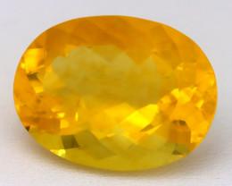 Fluorite 23.65Ct VVS Oval Cut Natural Vivid Yellow Color Fluorite B0322