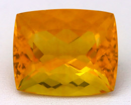 Fluorite 20.79Ct VVS Octagon Cut Natural Vivid Yellow Color Fluorite B0323