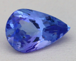 Tanzanite 3.71Ct VVS Pear Cut Natural Vivid Blue Tanzanite B0331