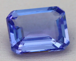 Tanzanite 4.04Ct VVS Octagon Cut Natural Vivid Blue Tanzanite B0333