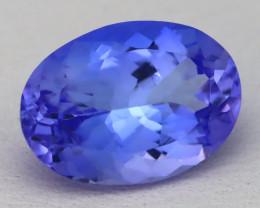 Tanzanite 3.58Ct VVS Oval Cut Natural Vivid Blue Tanzanite B0334