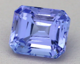 Tanzanite 3.66Ct VVS Octagon Cut Natural Purplish Blue Tanzanite B0336