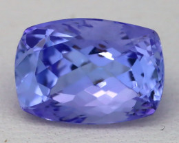 Tanzanite 3.61Ct VVS Cushion Cut Natural Vivid Blue Tanzanite B0337
