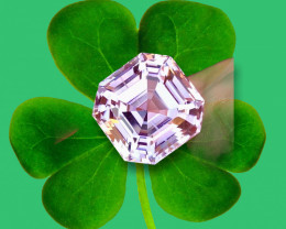 26.90 Carat Natural  Fancy Cut Kunzite Gemstone