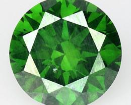 0.53 Ct Green Diamond Top Class Vivid Color GD11