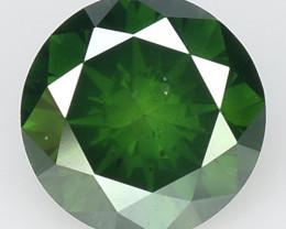 0.51 Ct Green Diamond Top Class Vivid Color GD12
