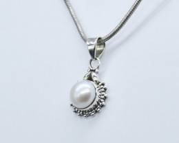 PEARL PENDANT 925 STERLING SILVER NATURAL GEMSTONE JP325