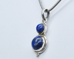 LAPIS PENDANT 925 STERLING SILVER NATURAL GEMSTONE JP326