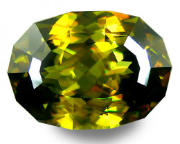 6.07Cts Hi Sparkling Natural Sphene Titanite Oval Shape Custom Cut Collecti