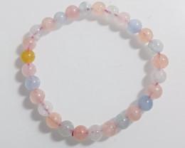 71.5Ct Natural Pink Beryl Bracelet
