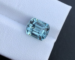 3.59 ct Included yet Attractive Rare Teal Blue Color  Congo Top luster Tour