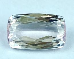 6.30Ct Kunzite Top Cut Top Luster Quality Gemstone.From Pakistan.KZ 62