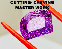 AMETHYST- RARE CARVING- CUTTING/ THE BEST FOR JEWELLERY-   SALE OF THE COLL