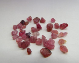 33.25 carats untreated ruby rough