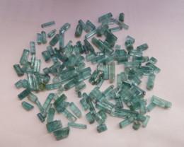 227 carats Paraiba tourmaline rough terminated crystals