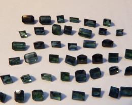 32.4 carats faceted indicolite tourmaline 43 pcs lot