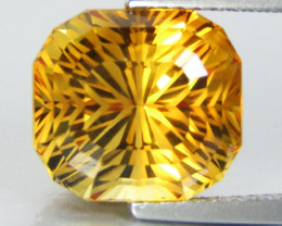 6.79Cts Wow Amazing Natural Citrine Radiant precision Cut  Collector Gem SE