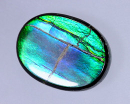 15x11mm,  7.42cts Natural Canadian Ammolite Stone / MA1495