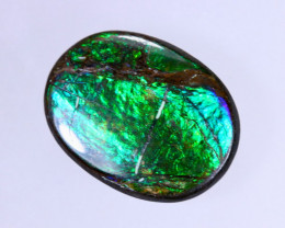 12x7mm,  5.08cts Natural Canadian Ammolite Stone / MA1500