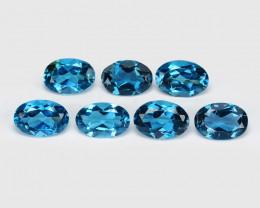 *No Reserve*London Topaz 3.54 Cts 7 Pcs Blue Natural Gemstones