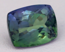 Tanzanite 4.21Ct VVS Natural BiColor Tanzanite Cushion Master Cut C0416