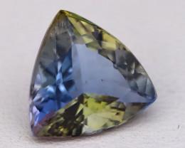 Tanzanite 2.97Ct Trillion Cut Natural TriColor Tanzanite C0422