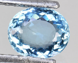 1.74Cts Awesome Natural Beautiful Blue Aquamarine Oval Cut Ref VIDEO