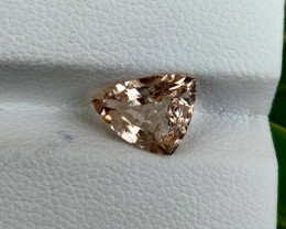 1.45 Cts Natural Peach Pink Morganite Fancy Shape Brazil