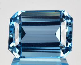 3.23 Cts Natural London Blue Topaz 10 X 8mm Emerald Cut
