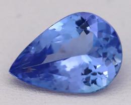 3.77Ct Natural Vivid Blue Tanzanite VVS Flawless Pear Master Cut C0426