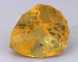 10.24Ct Fire Opal Precision Cut Ethiopian Crystal Yellow Fire Opal C0427