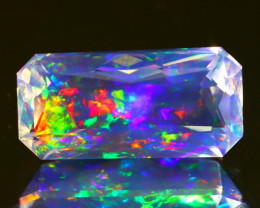 3.73Ct ContraLuz Mexican Precision Cut Very Rare Species Opal C0428
