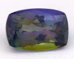 4.80Ct Natural TriColor Tanzanite VVS Flawless Octagon Master Cut C0432