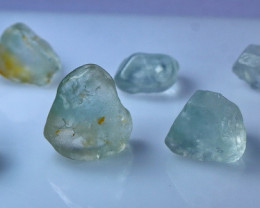 NR!!! 106.30 CTs Natural & Unheated~ Blue Topaz Rough Lot