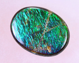 13x10mm,  5.05cts Natural Canadian Ammolite Stone / MA1521