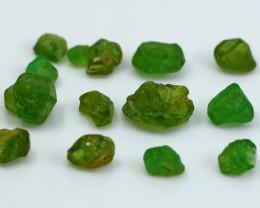 NR!!! 27.50 CTs Natural & Unheated~ Green Garnet Rough Lot