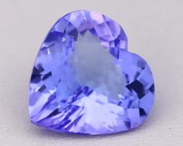 4.94Ct Natural Purplish Blue Tanzanite VVS Flawless Heart Cut C0402