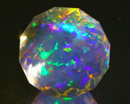 8.67Ct ContraLuz Mexican Precision Cut Very Rare Species Opal C0408