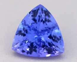 3.71Ct Natural Vivid Blue Tanzanite IF Flawless Trillion Master Cut C0409