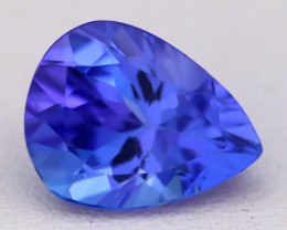 2.59Ct Natural Vivid Blue Tanzanite IF Flawless Pear Master Cut C0411