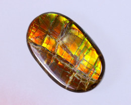 15x9mm,  6.17cts Natural Canadian Ammolite Stone / MA1573