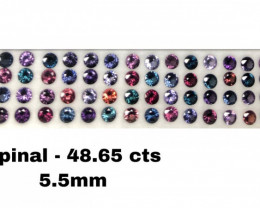 48.65 CT SPINEL MULTI COLOR LOT 100% NATURAL UNHEATED SRI LANKA