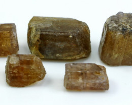 NR!!! 274.25 CTs Natural & Unheated~ Brown Scaolite Crystal Lot