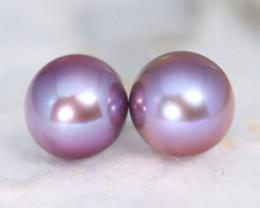 Pearl 8.0mm 6.12Ct Natural Australian South Sea Purple Color Pearl A0505