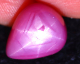 Ruby Star 9.78Ct 6 Rays Pinkish Red Rose Ruby Star EN118/A20